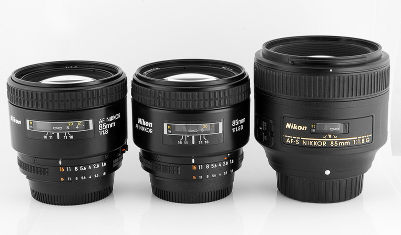 nikon 85mm 1.8 autofocus lenses